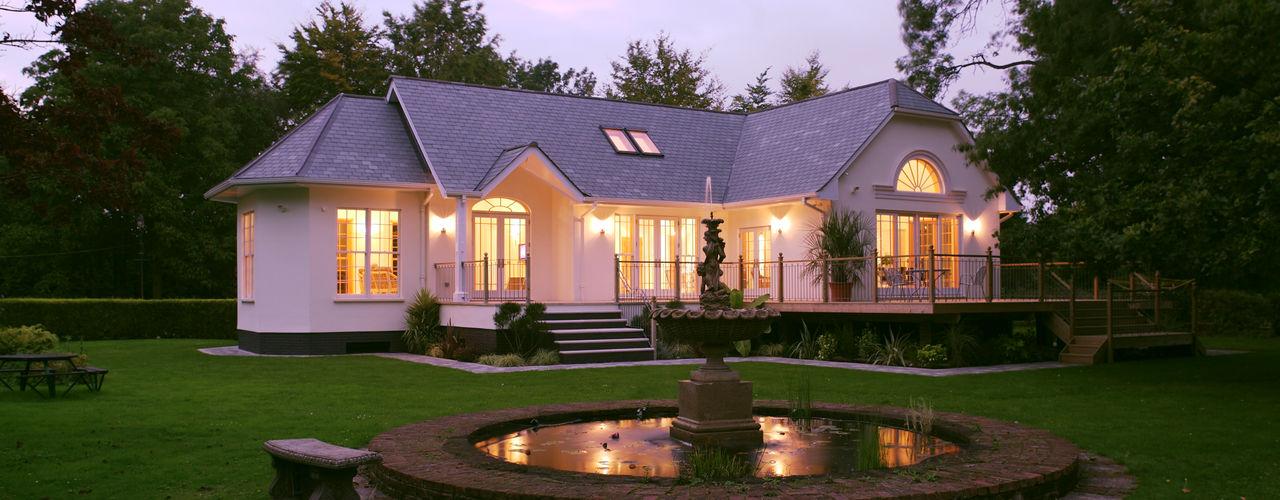 Neo Classical Design New build family home Marvin Windows and Doors UK Classic windows & doors