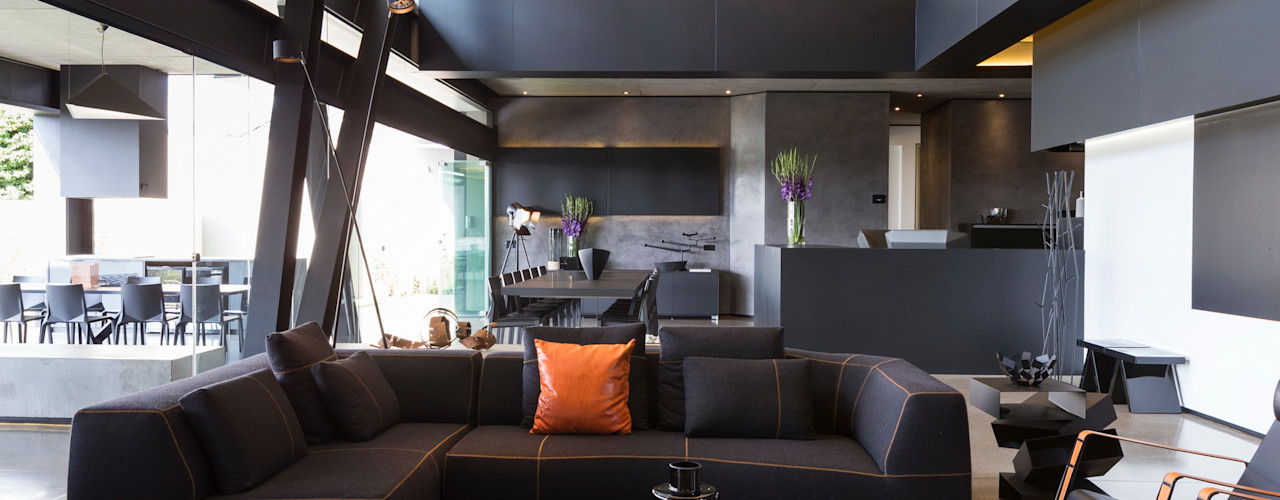 House in Kloof Road Nico Van Der Meulen Architects Вітальня