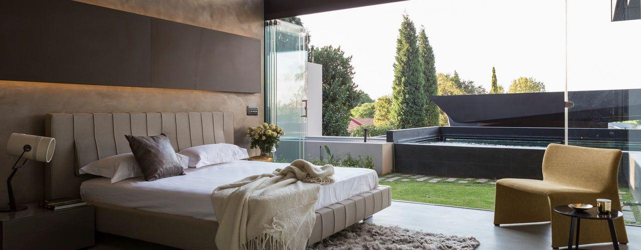 House in Kloof Road Nico Van Der Meulen Architects Modern style bedroom