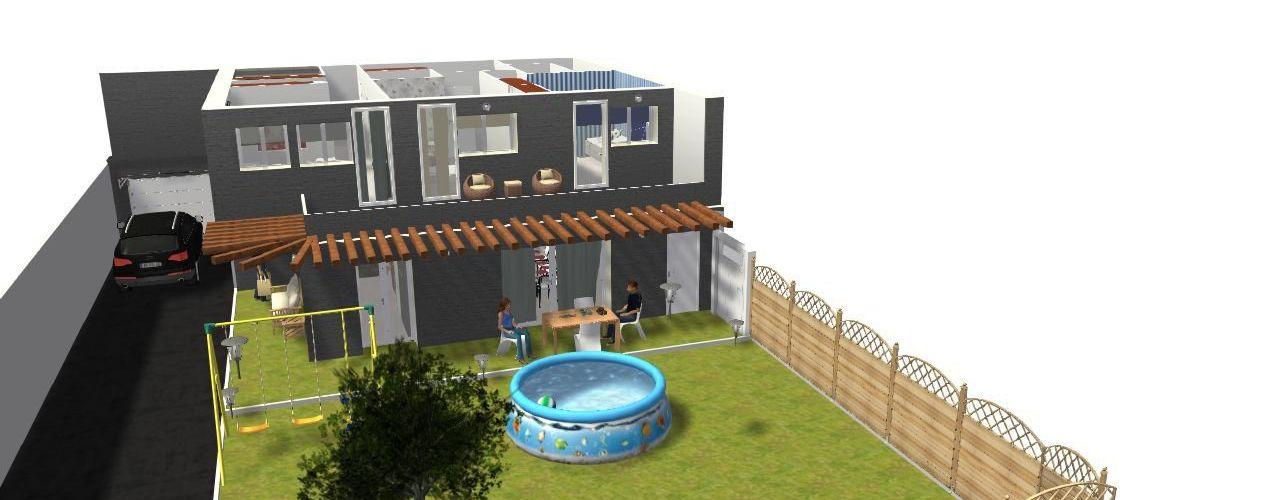 Jardin construcciones y reformas Viguera Jardines de estilo ecléctico