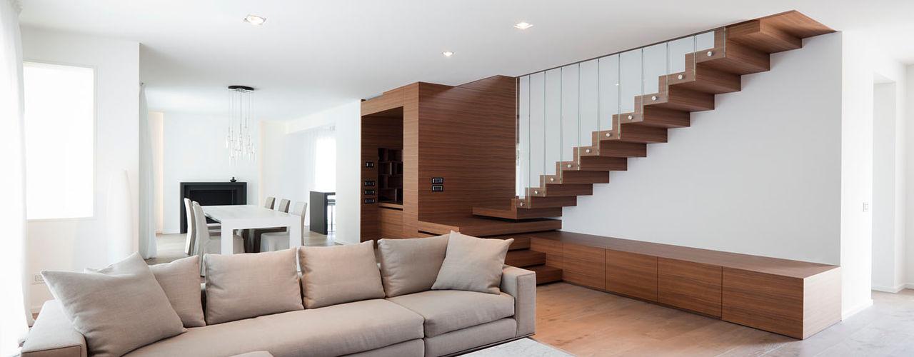 Z House EXiT architetti associati Soggiorno minimalista Legno
