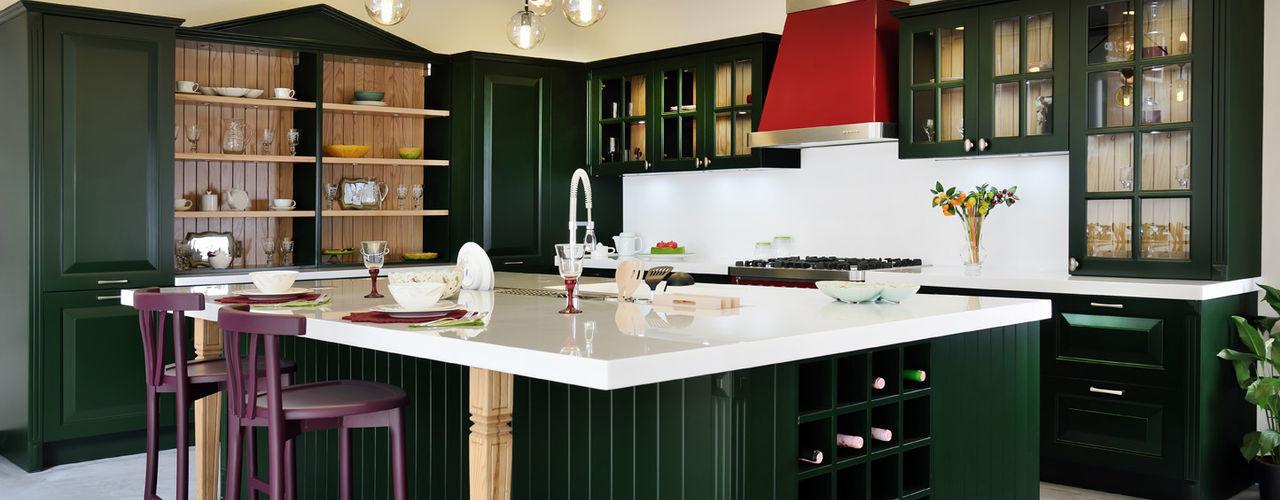 Bodrum Femaş Mobilya KitchenCabinets & shelves خشب Green