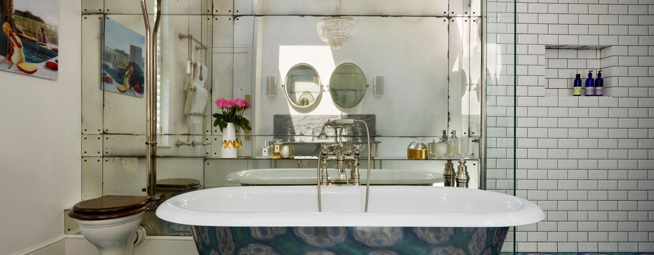 Victorian Terrace House, South-West London Drummonds Bathrooms Baños de estilo clásico Azul