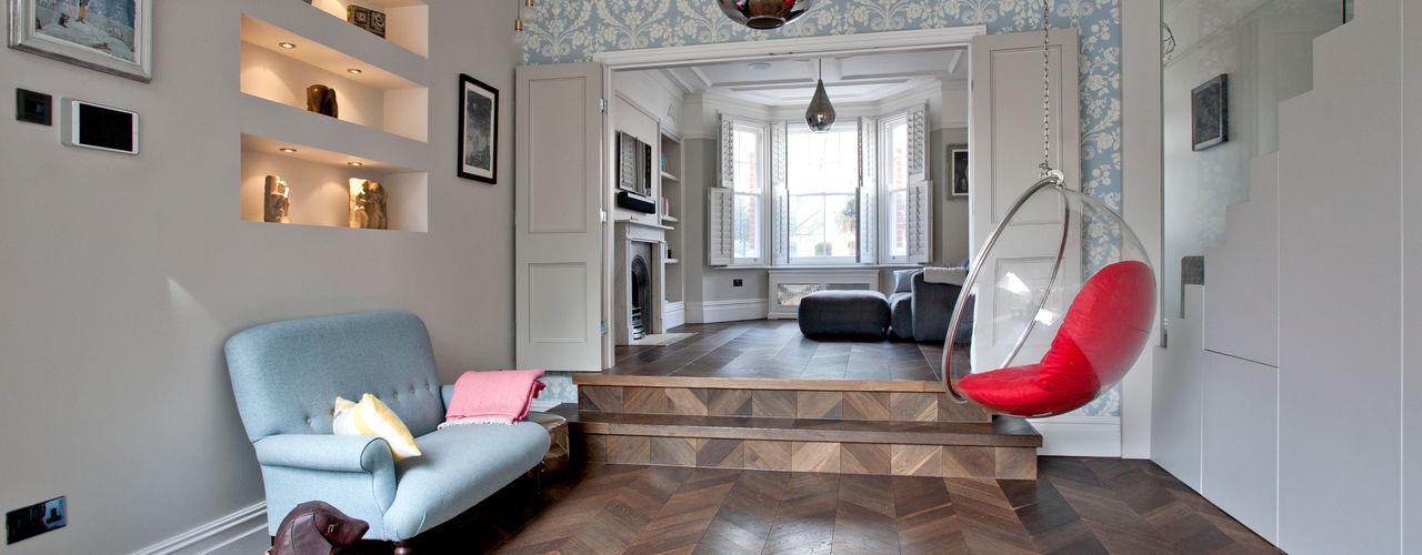 Richmond Full House Refurbishment A1 Lofts and Extensions Soggiorno minimalista