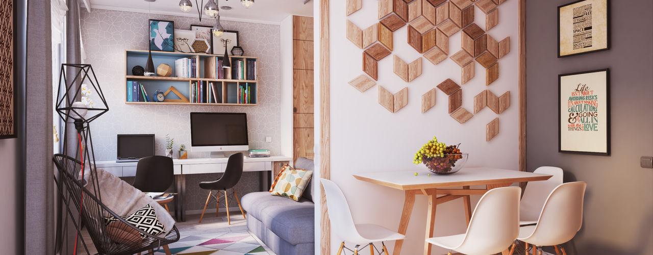 """APARTMENT """"VERBI"""" Polygon arch&des Salones minimalistas"""
