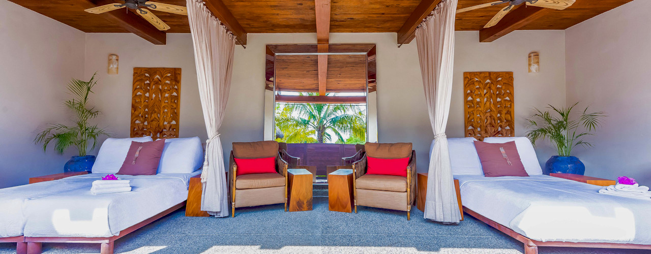 BR ARQUITECTOS Tropical style living room