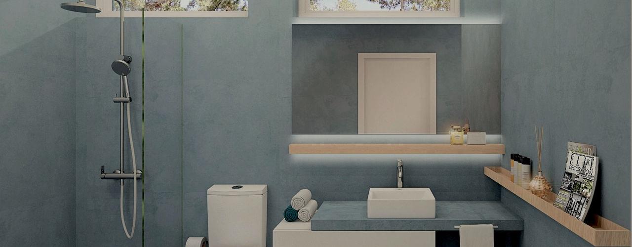 MRS - Interior Design Baños modernos Azul