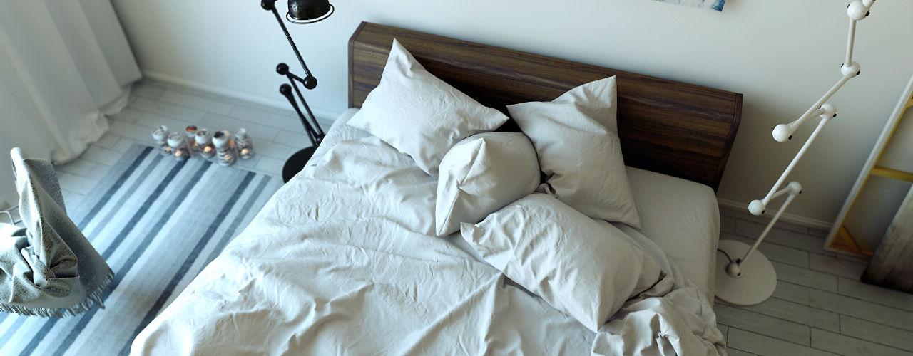 ArqRender Moderne Schlafzimmer Weiß