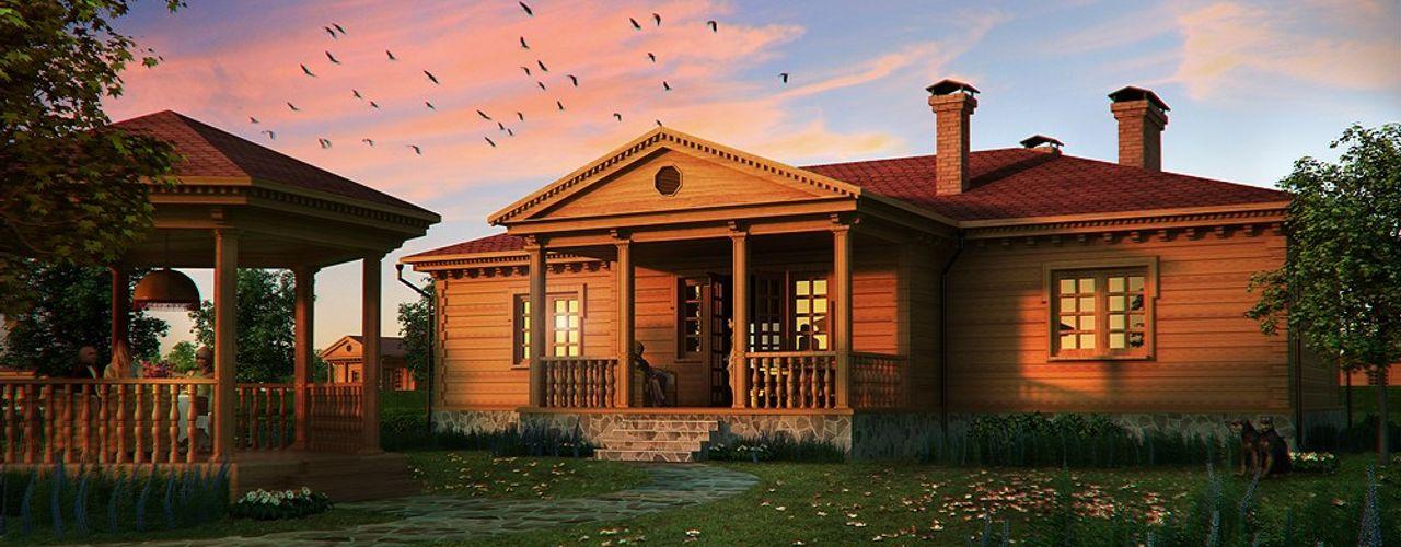 Design studio of Stanislav Orekhov. ARCHITECTURE / INTERIOR DESIGN / VISUALIZATION. Casas de estilo clásico