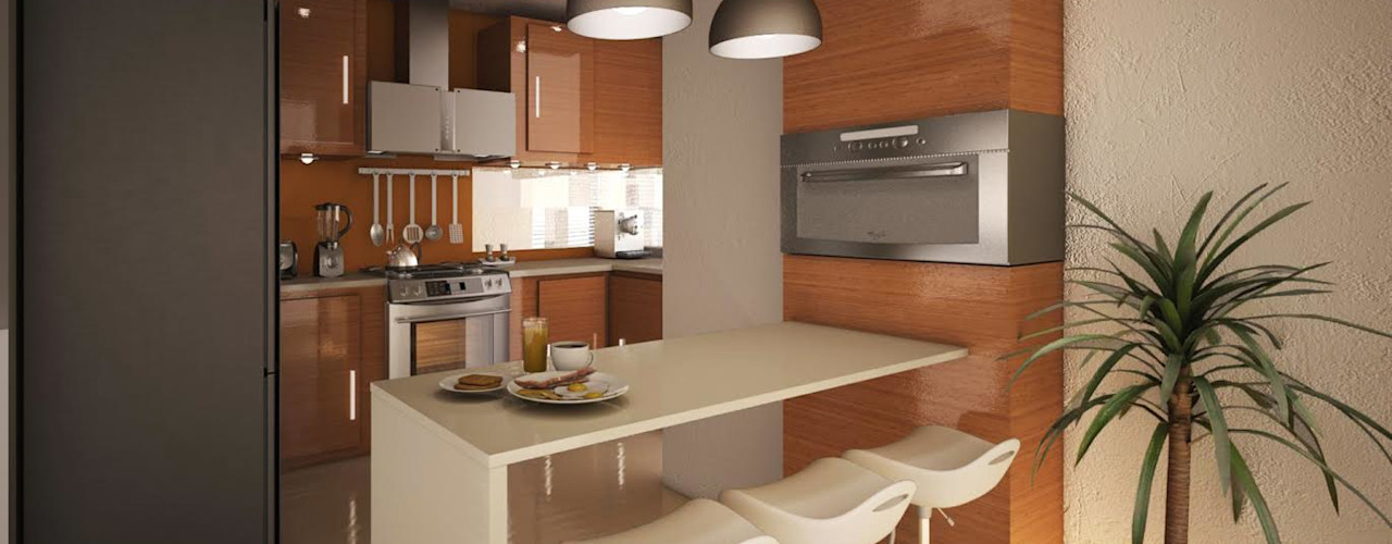 GarDu Arquitectos 現代廚房設計點子、靈感&圖片