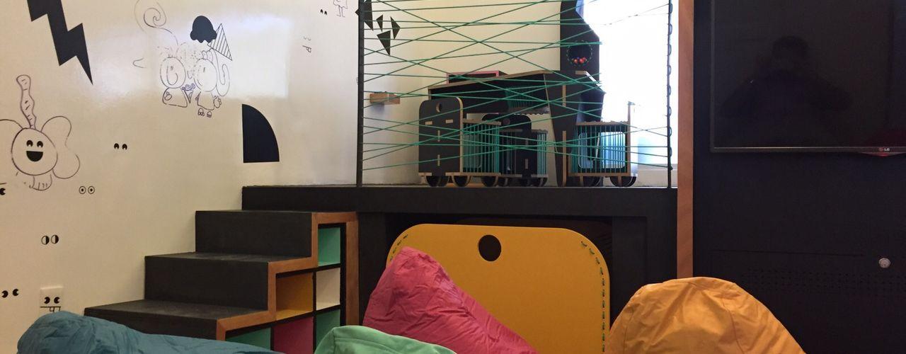 Remodelación salón de niños Restaurante Cerroviento Amétrico Estudio Espacios comerciales de estilo minimalista