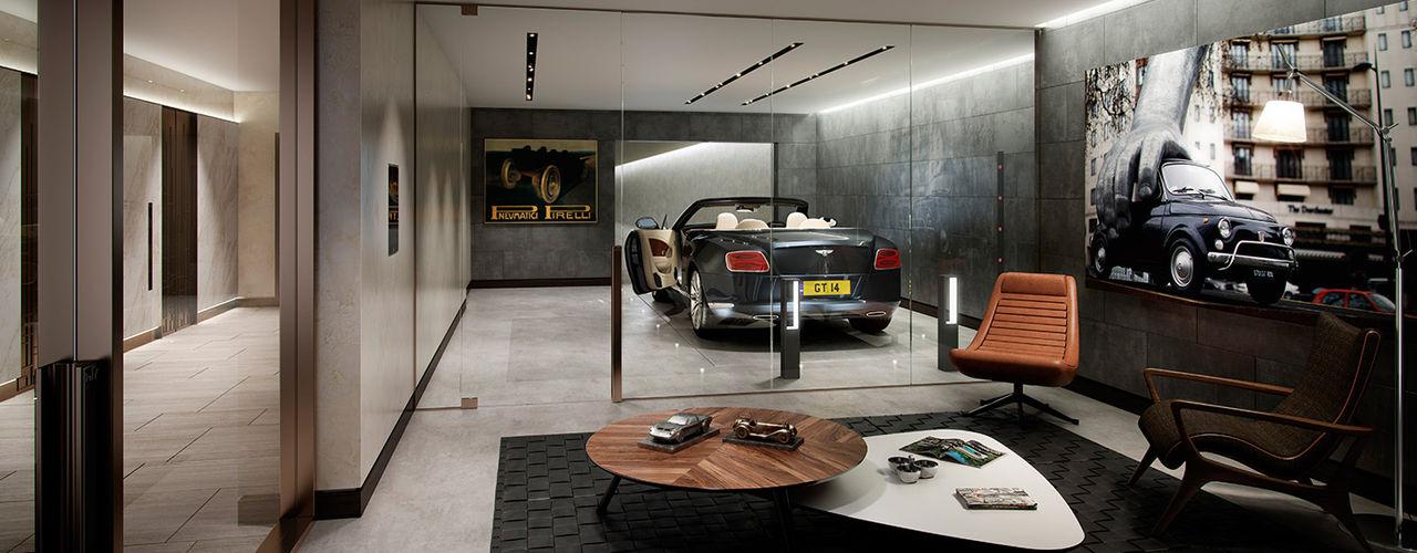 The Cricketers Folio Design Moderne Garagen & Schuppen