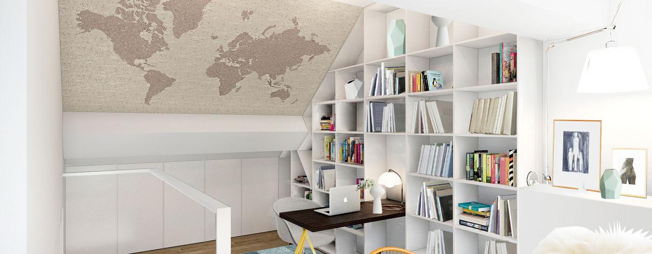 Lesbroussart ZR-architects Bureau scandinave Blanc