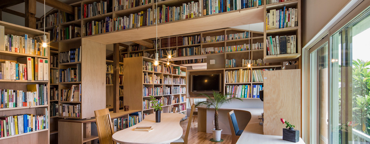 スズケン一級建築士事務所/Suzuken Architectural Design Office Modern living room Wood