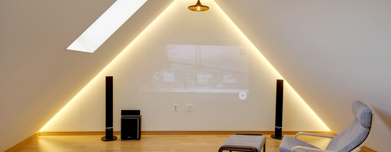 mlnp architects Salas de estar modernas