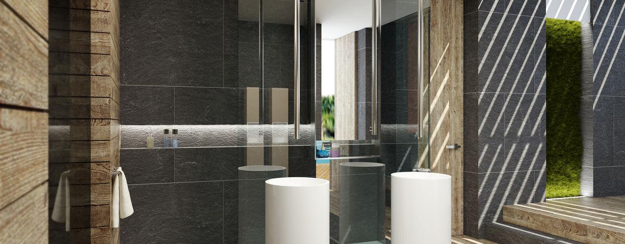 plasma Moderne Badezimmer
