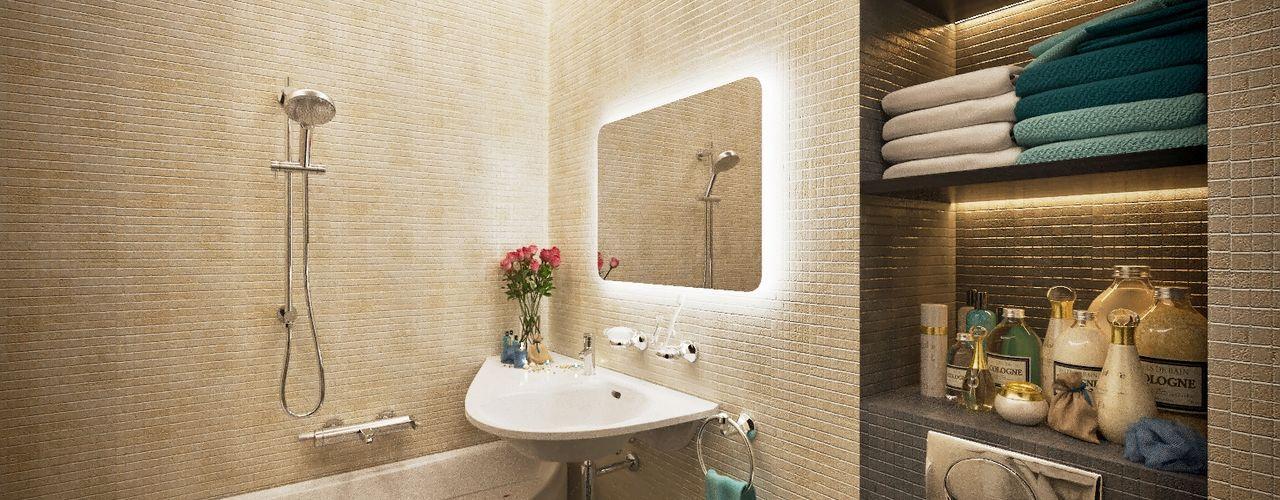 Lotos Design Salle de bain moderne Pierre Beige