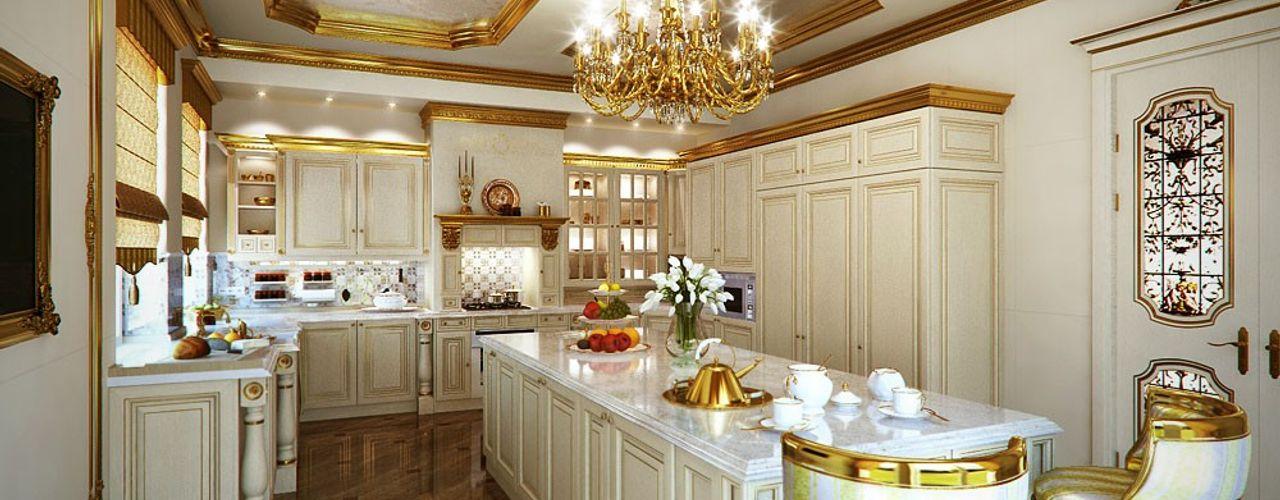 Design studio of Stanislav Orekhov. ARCHITECTURE / INTERIOR DESIGN / VISUALIZATION. 廚房