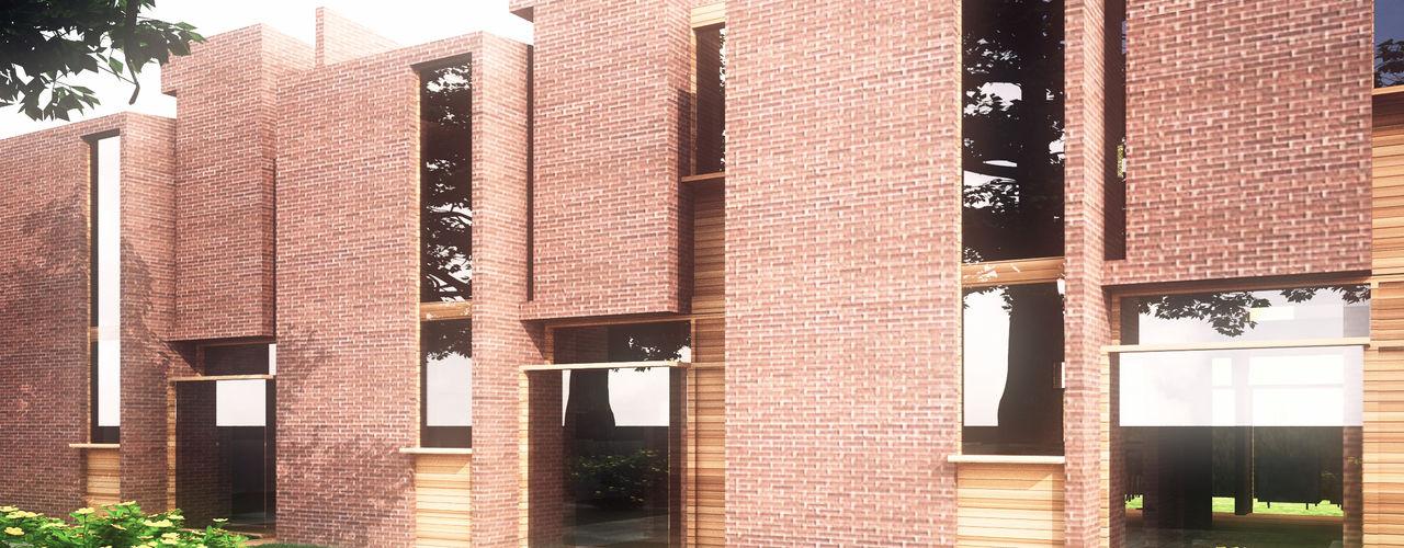 Town House Odart Graterol Arquitecto Casas de estilo ecléctico Ladrillos