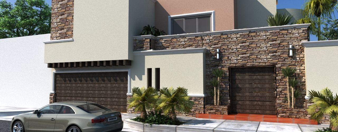 PROYECTO RUBIO OLLIN ARQUITECTURA Casas modernas