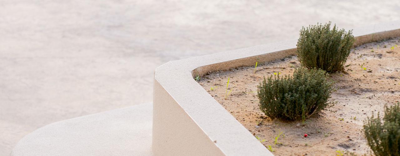 Empresa constructora en Madrid Jardines modernos: Ideas, imágenes y decoración Hormigón