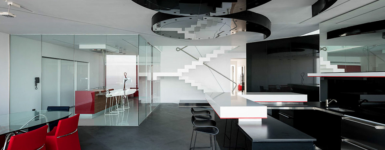 45° Design Group Latinamerica Salas de estilo moderno