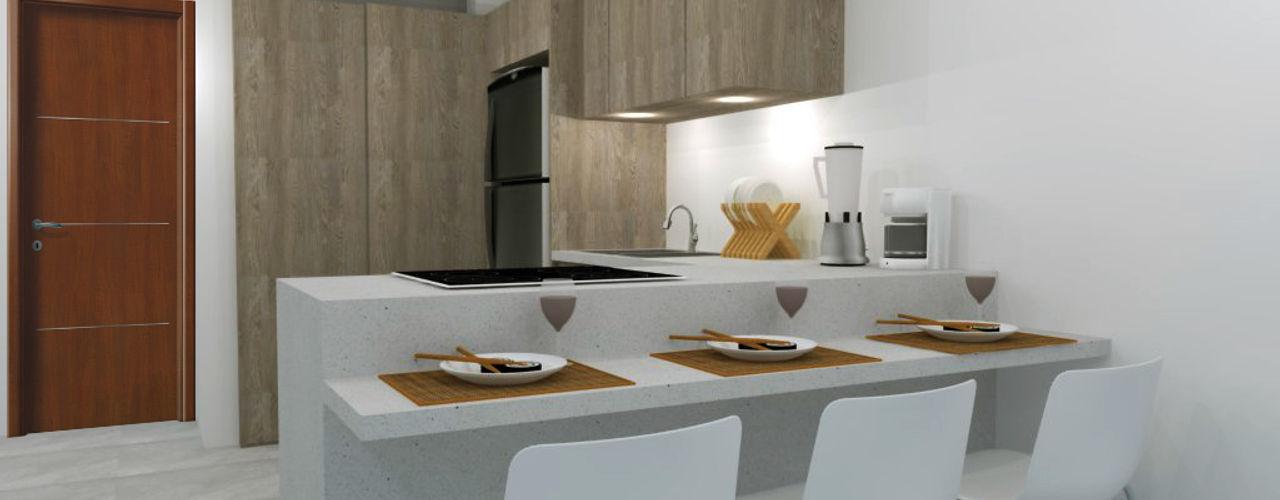 ARCE FLORIDA Modern Kitchen Wood Wood effect