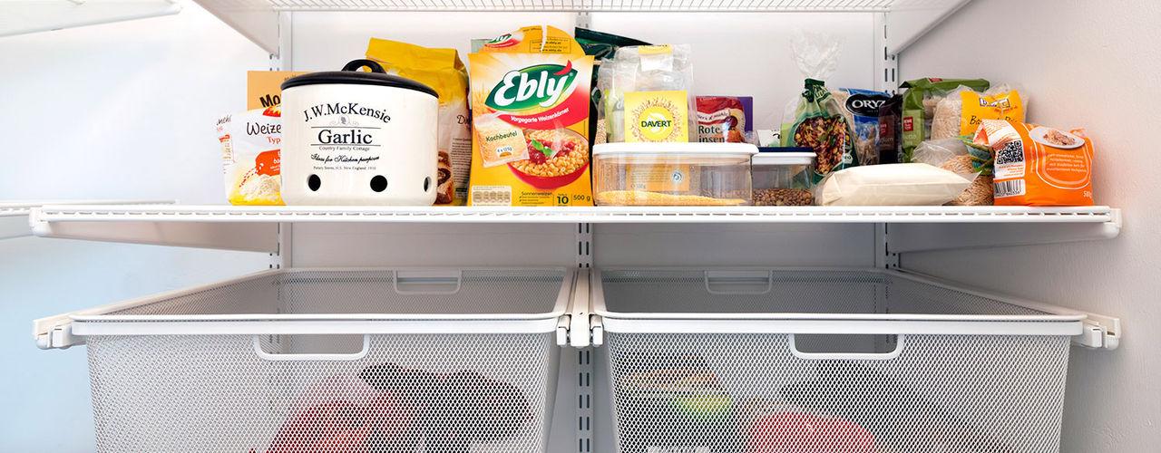 Projektfotos: Aufbewahrungs-Lösungen für jeden Raum Elfa Deutschland GmbH Moderne Küchen Metall Weiß
