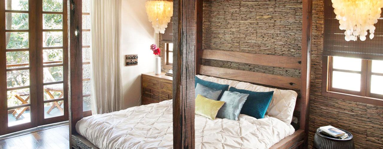 Nitido Interior design Rustikale Schlafzimmer Massivholz Holznachbildung