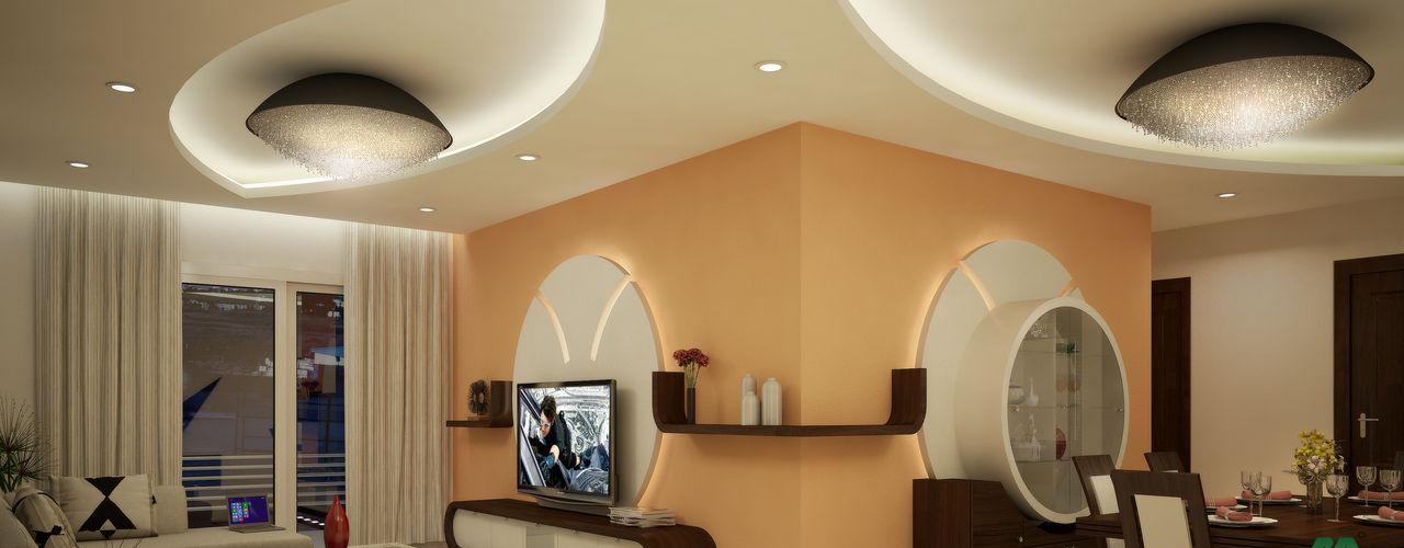 Impressive contemporary style Premdas Krishna Modern living room