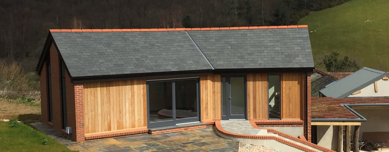 Exeter - Beautiful Single Storey Living Building With Frames Minimalist house Wood