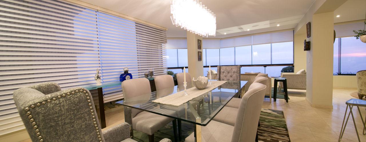 Departamento Malecon Miraflores Oneto/Sousa Arquitectura Interior Comedores de estilo ecléctico
