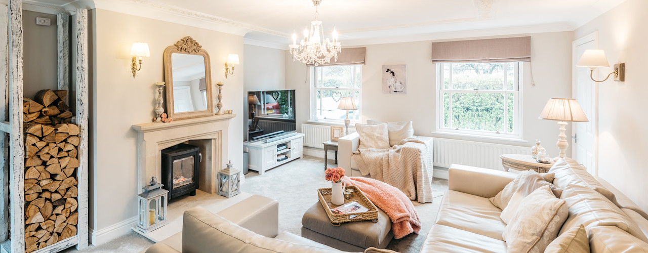 French Shabby Chic Living Room Katie Malik Interiors Salas modernas