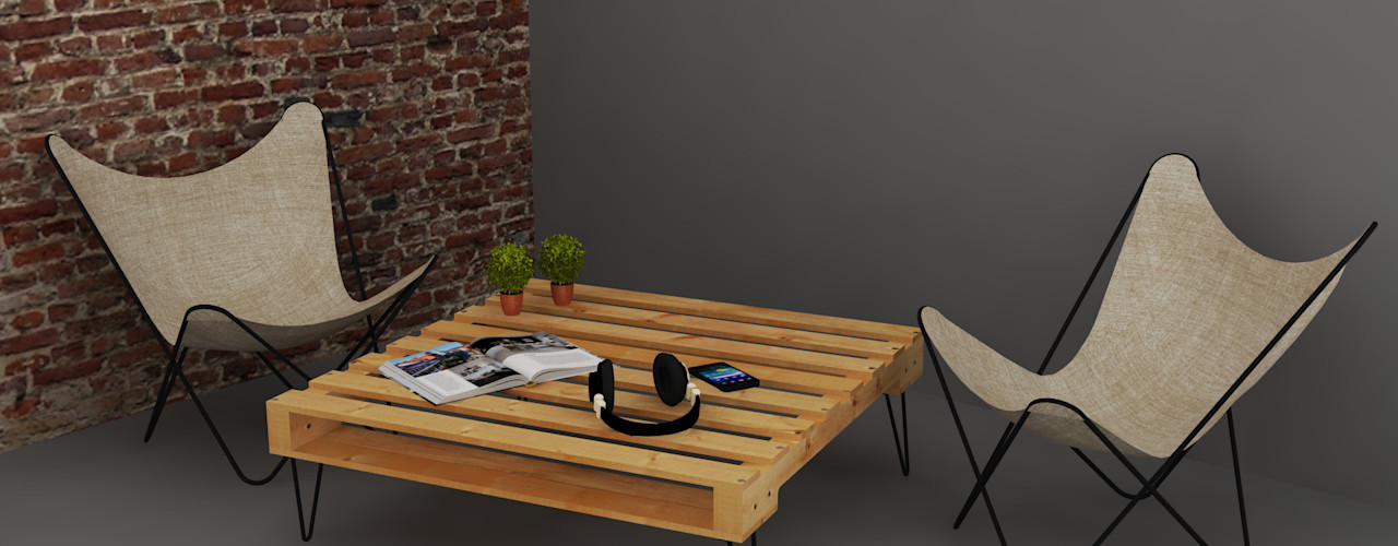 Arquitecto Ariel Ramírez Living roomSide tables & trays Solid Wood Wood effect