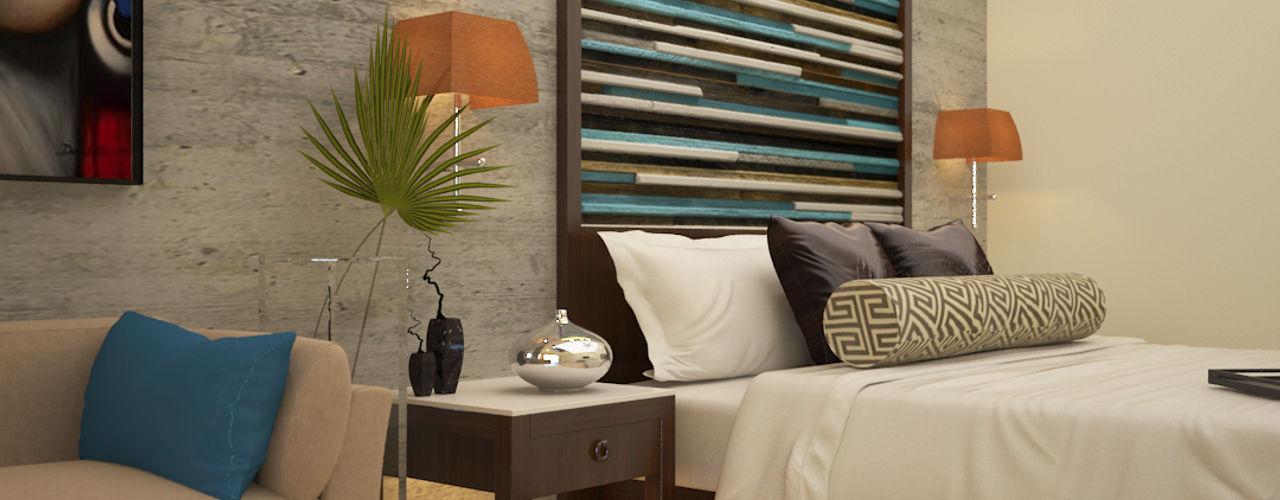 Vaibhav Patel & Associates Cuartos de estilo asiático Derivados de madera Multicolor