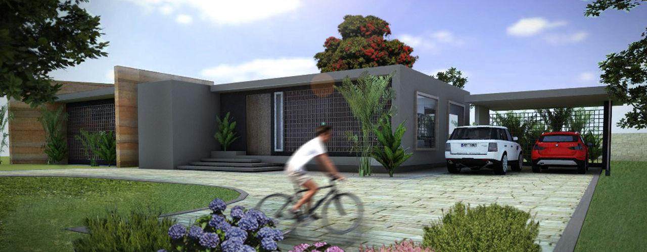 homify Casas de estilo moderno Hormigón Gris