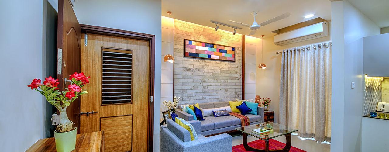 Saar Interior Design Salas de estilo ecléctico Multicolor