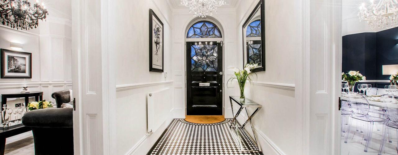 The Cooke's Vogue Kitchens Pasillos, vestíbulos y escaleras de estilo moderno