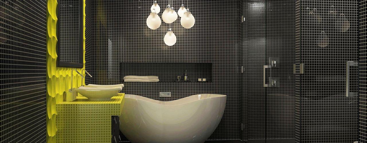 Studio apartment interior design Lena Lobiv Interior Design Modern bathroom