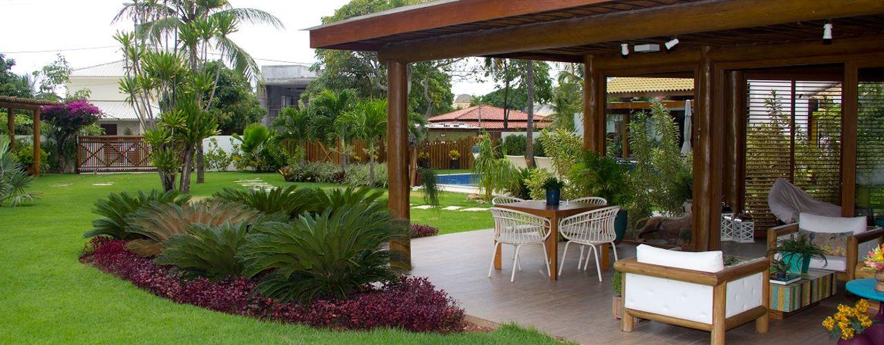 Tânia Póvoa Arquitetura e Decoração Maisons tropicales Vert
