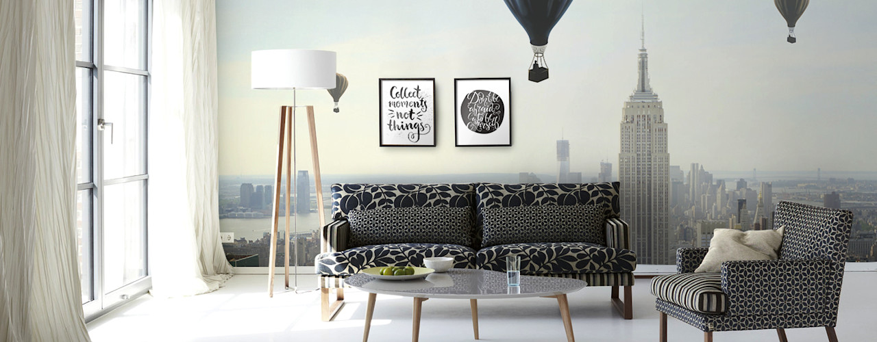homify Living room Grey