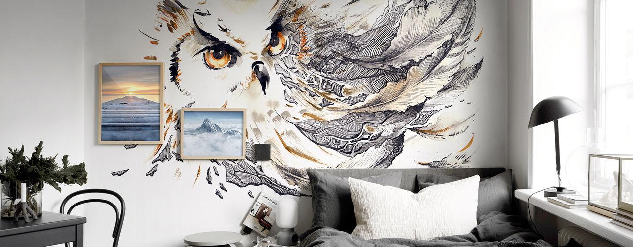 Bedroom Pixers Eclectic style bedroom Grey