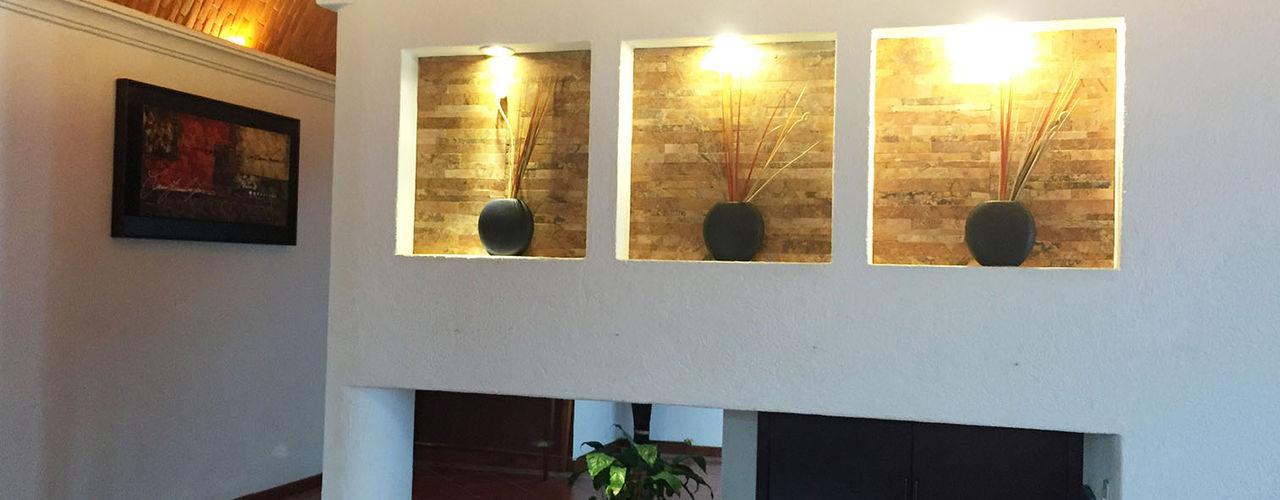 AMG Arquitectura Integral Couloir, entrée, escaliers modernes Briques
