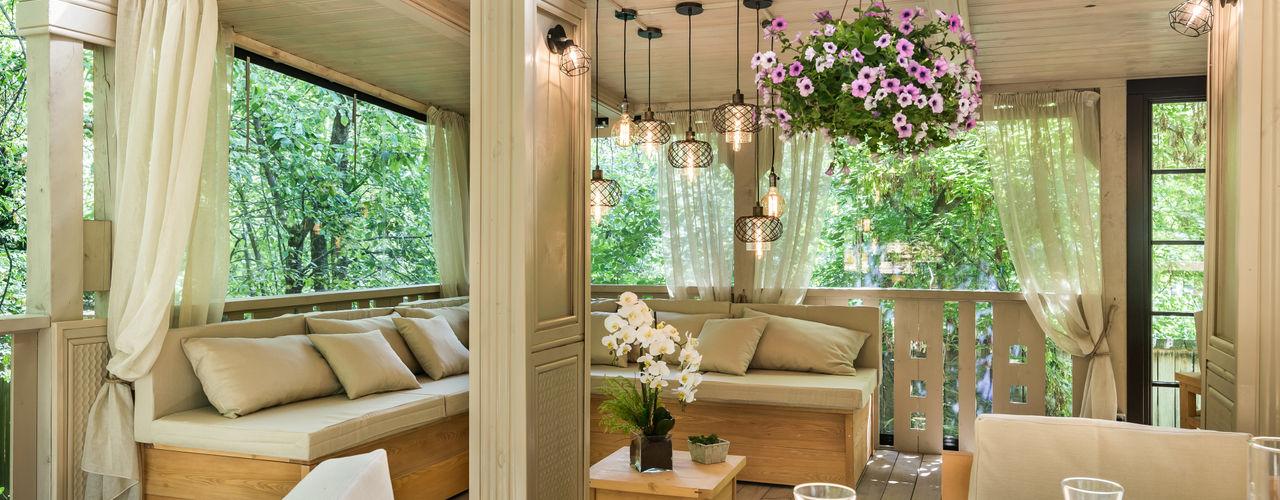 ЛЕТНЯЯ ВЕРАНДА Tony House Interior Design & Decoration Балкон и веранда в стиле лофт