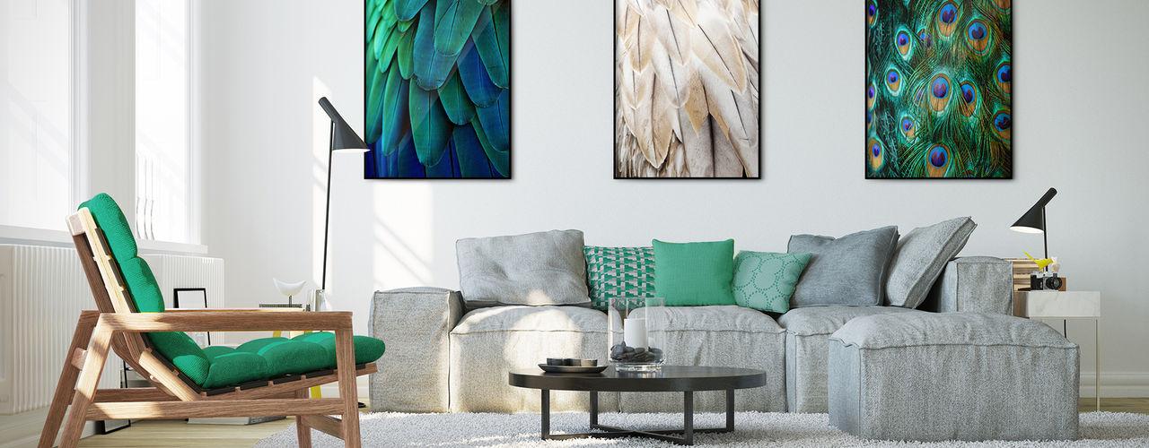 Living Room Pixers Ausgefallene Wohnzimmer Blau
