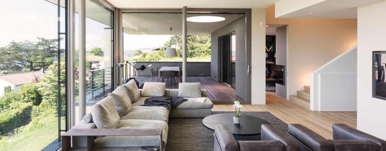 Objekt 340 meier architekten zürich Moderne Wohnzimmer Beige