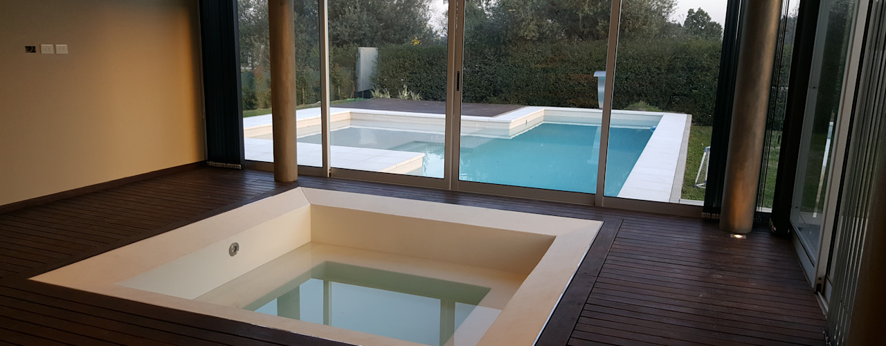 Saleme Sanchez Arquitectos Modern Spa Wood White