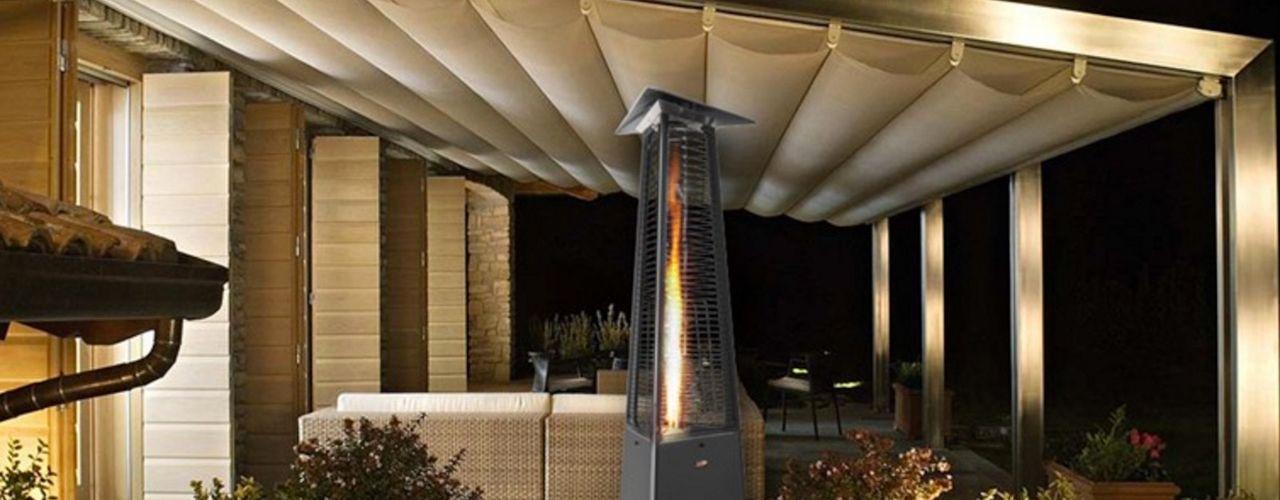 Design Gas Heizstrahler aus Italien RF Design GmbH Moderner Balkon, Veranda & Terrasse Grau