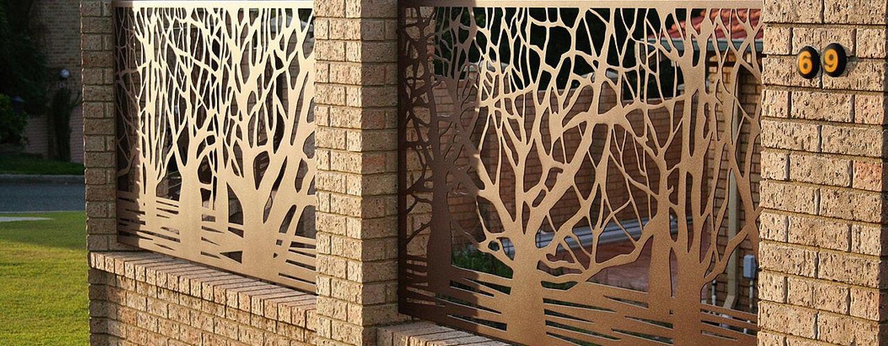 homify Jardins modernos Ferro/Aço Acabamento em madeira