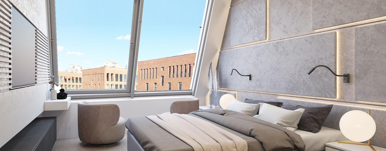 Kerimov Architects Dormitorios de estilo minimalista